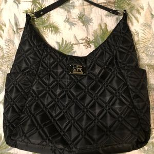 Kenneth Cole reaction quilted black tote
